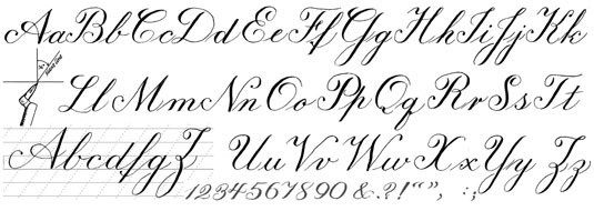 Calligraphy styles write online